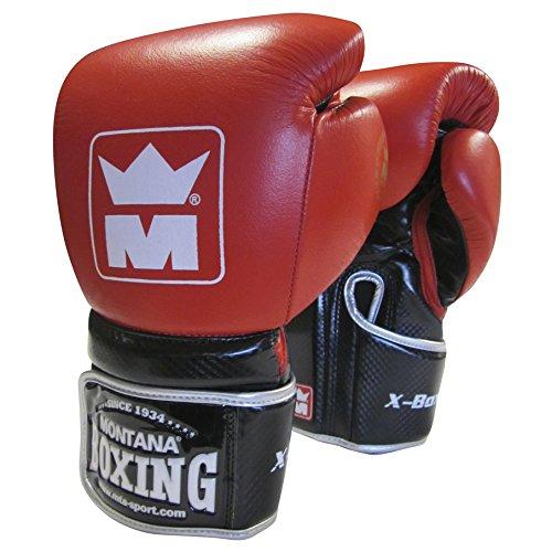 Montana X-Boxing Gants de Boxe Mixte Adulte, Rouge, 12 oz