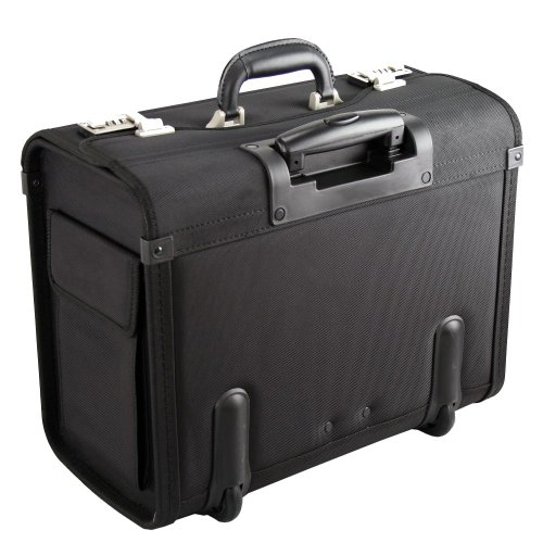 Dermata Pilotenkoffer Trolley 45,5 cm Laptopfach schwarz - 4