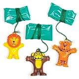 Baker Ross- Paracaídas de Animales para niños (Pack de 8) -Regalos para Bolsas de cotillón
