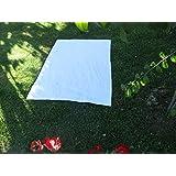 Toalla manta 150x200cm , 100%algodón, 460gr/m2, fabricada en Portugal. (blanco)