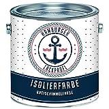 Isolierfarbe matt Weiß Antischimmelfarbe Innen unter Dispersionsfarbe Sperrgrund Nikotinfarbe Deckanstrich Nikotinsperre // Hamburger Lack-Profi (2,5 L)