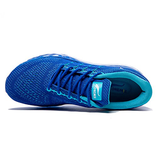 ONEMIX Basse Uomo Sportive Air Ginnastica Blu Basket Scarpe da navy Running Sneakers rwrXxqA