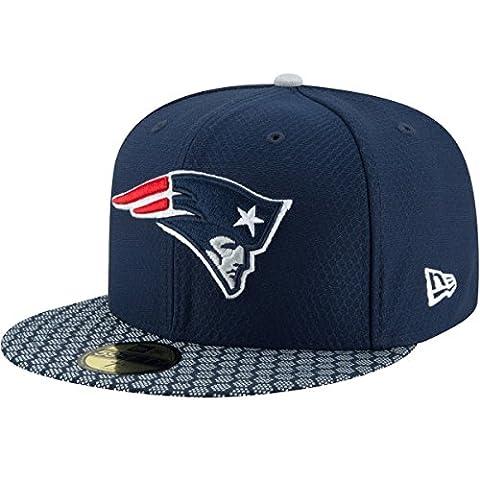 New Era 59Fifty Cap - NFL SIDELINE 2017 New England Patriots , Gr.7 5/8 - 61cm (XL)