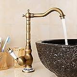Wasserhahn mit nostalgischem Landhausstil Küchenarmatur Bronze Retro Küchenarmatur Exklusive Spültischarmatur (Farbe : D)