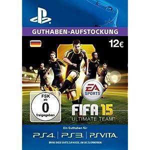 PlayStation Store Guthaben-Aufstockung 12 EUR – EA Ultimate Team [PS4, PS3, PS Vita PSN Code – deutsches Konto ]