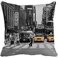 henryoutletshop cojín de Nueva York Taxi y: 113manta cuadrado de algodón funda de almohada cojín en 45* 45cm