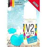 V2 Vape caramelo de hielo concentrado alta dosis de sabor premium de alimentos 10ml 0mg libre de nicotina