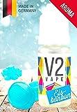 V2 Vape Eisbonbon AROMA/KONZENTRAT hochdosiertes Premium Lebensmittel-Aroma zum selber mischen von E-Liquid/Liquid-Base für E-Zigarette und E-Shisha 100ml 0mg nikotinfrei