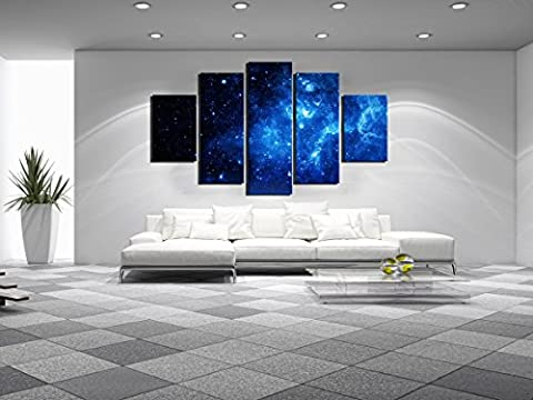 Strange N 159 - 5 Panels Framed Strange Star Canvas Print