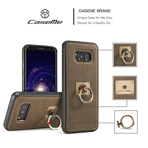SDDMALL CaseMe Case avec 360 Rotating Finger Ring Stand Design et Magnetic Back Cover pour Samsung Galaxy S8 ( Color : Red ) Brown