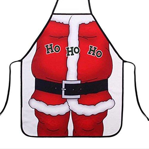 TOPmountain Adult Festive 50x70cm Weihnachten Schürze Santa Weihnachten Küchenartikel Koch lustige Partei Dekoration