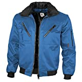 :Qualitex - Pilotenjacke 4 in 1, Royal , 4XL