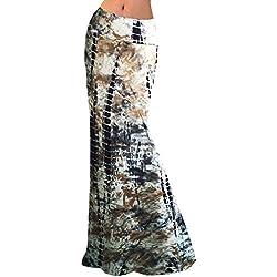 Las Mujeres Maxi Falda De Playa Largos Estampado Floral del Verano Faldas De Fiesta XXL 5