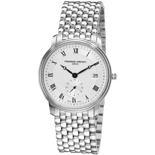 Herren-Armbanduhr XL Slim Line Analog Quarz Edelstahl FC-245M4S6B (Frederique Constant Herren-uhren)