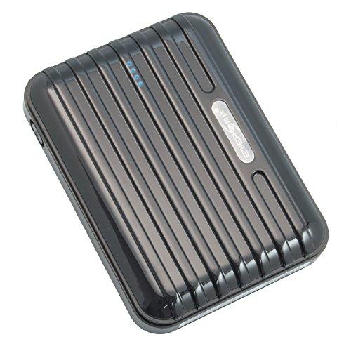 Iphone 5 5s 5c Powerbank 12000 mAh Extern Ladegerät Extern Batterie AKKU Zusatzakku mit 5 Adapter für Unterwegs für iPhone 4S 5 und Ipad (Schwarz)
