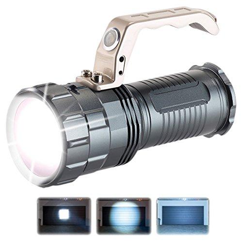 KryoLights Handstrahler: Extrahelle Akku-LED-Handlampe TRC-410 CREE LED, 400lm, 10W, IP44 (Suchscheinwerfer)