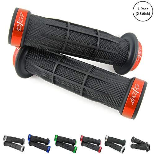 Universal Fahrrad/E-Bike/Quad/ATV Lenkergriffe Griffgummis 2 x 22mm (Stripe) (Orange)