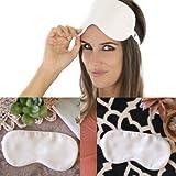 Silk Bedding Direct EIN Paar SEIDEN GEFÜLLTE AUGENMASKEN. Luxuriöse Schlafmaske aus 100% Maulbeer Naturseide. NIEDRIGER VERKAUFSPREIS