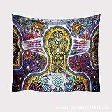 xkjymx Hängende dekorative Tapisserie Tapisserie Strandtuch Tapisserie Zauberteppich 1 200x150 (Schleifmodelle)