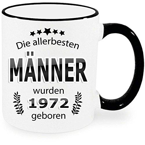 """Tasse Ring Schwarz zum Geburtstag """" Die allerbesten Männer 46 """". Auch für Frauen erhältlich. Nur Original von DRUCK-DEINE-TASSE"""