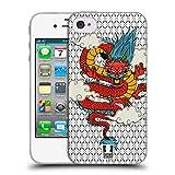 Head Case Designs Drachen Druck Modische Patches Soft Gel Hülle für iPhone 4 / iPhone 4S