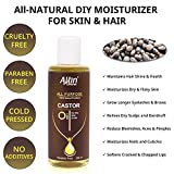 #5: Allin Exporters Cold Pressed 100% Pure and Natural Castor Oil - All Purpose Therapeutic Grade Paraben Free Carrier Oil for Hair Growth, Face, Skin Moisturizer, Scalp, Thicker Eyebrows and Eyelashes (200 ml)