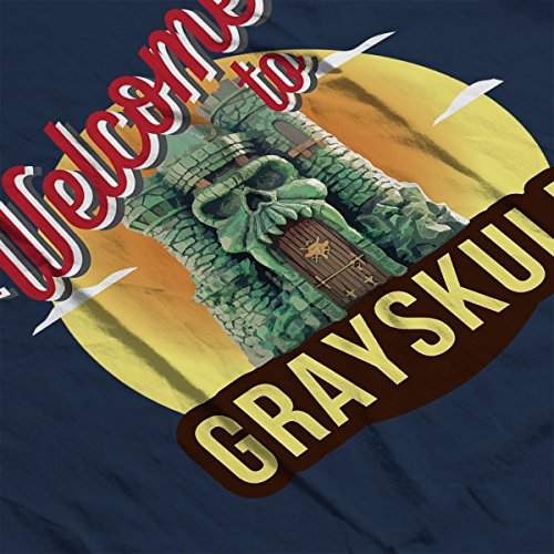 Welcome To Greyskull He Man Masters Of The Universe Men's T-Shirt Navy Blue