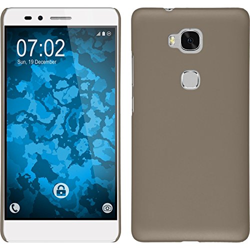 PhoneNatic Case kompatibel mit Huawei Honor 5X - Hülle Gold gummiert Hard-case Cover 5 X Hard Case
