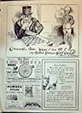Impression Antique des Cigarettes 1900 du Guinée-Or d'Ogden de Publicité Bensons Wa…
