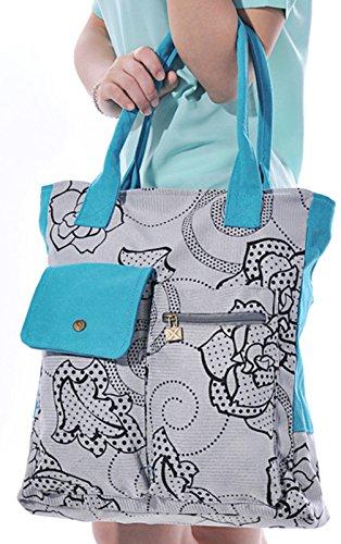 Keshi Toile Nouveau style - Sac à main femmes - Porté MAIN et EPAULE Multicolore