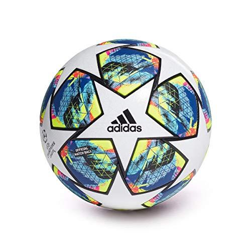 Adidas Finale OMB, Balón, White-Bright Cyan-Solar Yellow-Shock Pink