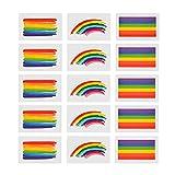 Godagoda Gesicht Tattoo Aufkleber Set Bunt Regenbogen Muster Sticker für Party Festival Shows 24 Stk