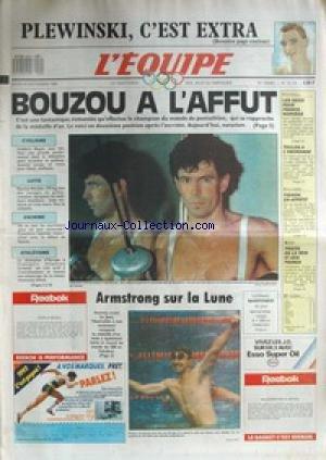 EQUIPE (L') [No 13179] du 20/09/1988 - PLEWINSKI - LES J.O. - BOUZOU A L'AFFUT - CYCLISME - LUTTE - ESCRIME - ATHLETISME - ARMSTRONG SUR LA LUNE - FOOT - FRANCE ET NORVEGE - TOULON - CYCLISME - FIGNON - BOXE - TIOZZO. par Collectif