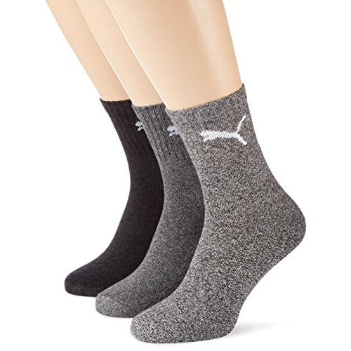 51GQgvPoqdL. SS500  - Puma Short Crew Sports Socks (Pack of 3) - Anthracite Grey, 12-14 UK (47-49)