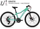 Ghost Lanao Kid D4.4 AL W Kinder Mountain Bike 2018 (32cm, Jade blue / Star white)