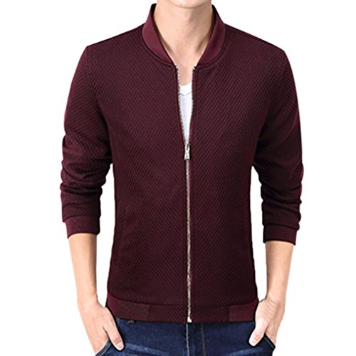 Amlaiworld Uomo Moda Sport cappotto M~4XL Vino