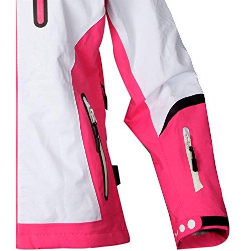 Cox Swain Damen 3 Lagen Titanium Funktions/Hardshelljacke Kabru 8.000 Wassersäule 5.000 Atmungsakt, Colour: White/Pink, Size: XS - 5