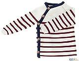 100 % Bio Baumwolle Gestrickt Wickelhemd 1/1 Arm von Iobio (50/56, mehrfarbig)