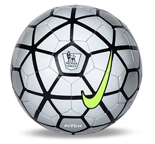 Nike EPL Pitch Official Match Soccer Ball 2016 Silver Black