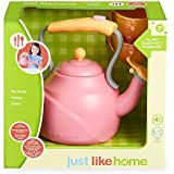 Just Like Home Tea Set For Kids- Pink Including Kettle And Two Cups