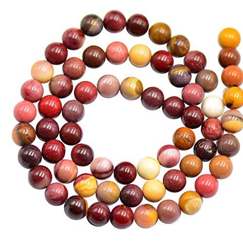 Homyl Natürliche Edelstein Perlen Schmuckperlen Mookait Schmucksteine Buddha Buddhistische Tibetische Gebetskette Armband