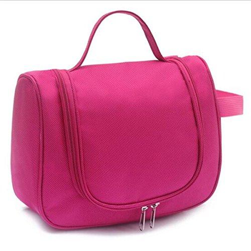 Jia Qing Sacchetto Cosmetico Portatile Di Grande Capacità Multifunzionale Del Sacchetto Di Viaggio Del Sacchetto Del Sacchetto Bagno Generale Cosmetico Impermeabile Pink