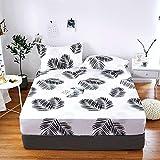 PENVEAT 1 stück 100% Polyester Druck Bett matratze Set mit Vier Ecken und Gummiband blätter heißer, yefeng, 120X200X25 cm