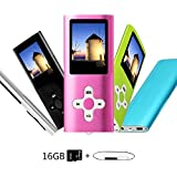 Btopllc 16GB Speicherkarte MP3-Player MP4 Musik-Player Sound Eintrag Hallo-Fi-Musik-MP3-Player