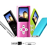 Btopllc 16GB MP3 Player MP4 Player