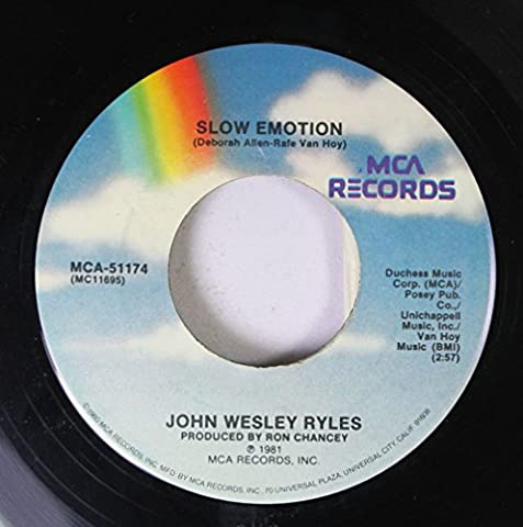 John Wesley Ryles 45 RPM Slow Emotion / Kiss and Say Goodbye