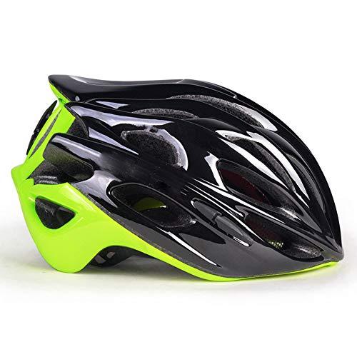 MAKE FINE Fahrradhelm Ce-Zertifizierung Mountainbike Helm Straße Bergab Helm Outdoor Sports Skateboard Helm Integrierte Form,Grün