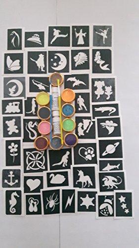 40-pochoir-de-tatouage-pour-les-tatouages-paillettes-art-corporel-10-paillettes-couleurs-garcons-fil