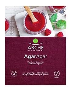 Arche Agar Agar 30 g (Geliermittel aus Rotalgen) Bio Backzutat, 3er Pack (3 x 30 g)