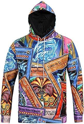 Pizoff Unisex Hip Hop sweatshirts hoodie with Paint Splatter 3D Digital Print colorful palace quietly